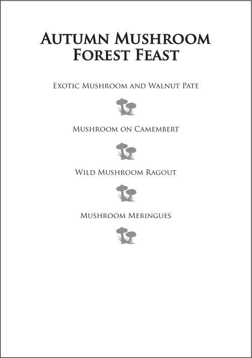 Autumn Mushroom Forest Feast
