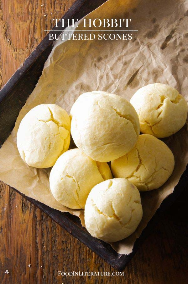 Buttered Scones recipe The Hobbit An Unexpected party menu Food in Literature