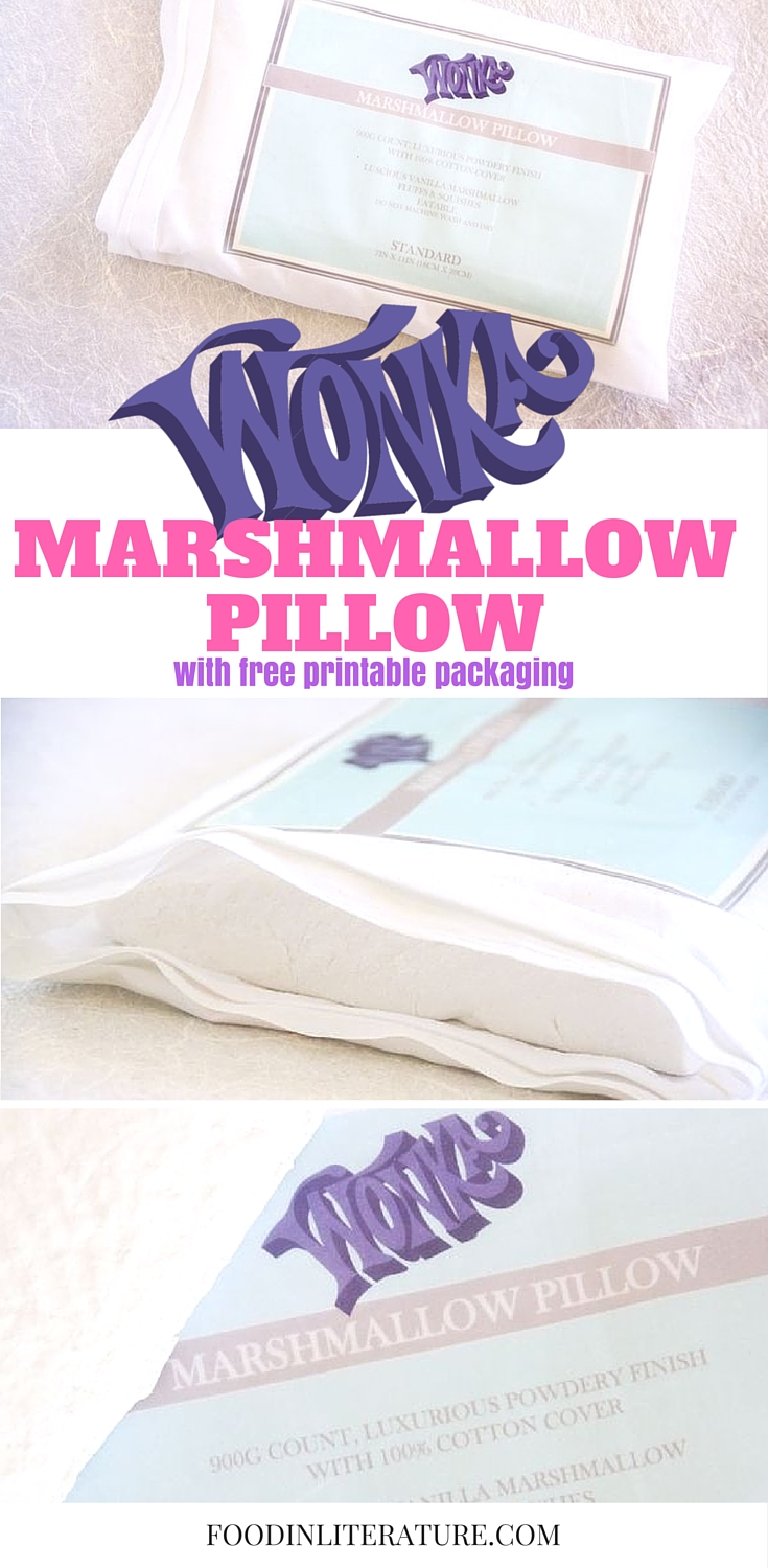We just took marshmallows to a whole new level. Straight from Wonka in Charlie and the Chocolate Factory, make marshmallow pillows. We even created free downladable packaging to go with it!