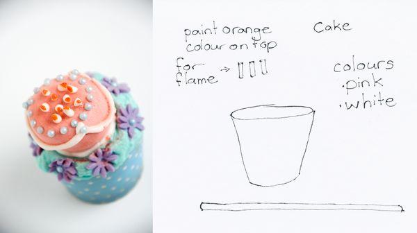 Alice in Wonderland Cupcakes Unbirthday Cake