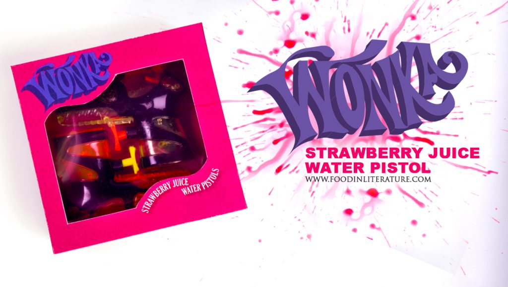 Wonka's Strawberry Juice Water Pistol | www.FoodinLiterature.com