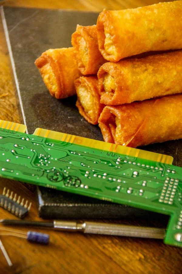 Artemis Fowl and The Eternity Code; Vegetarian Spring Rolls