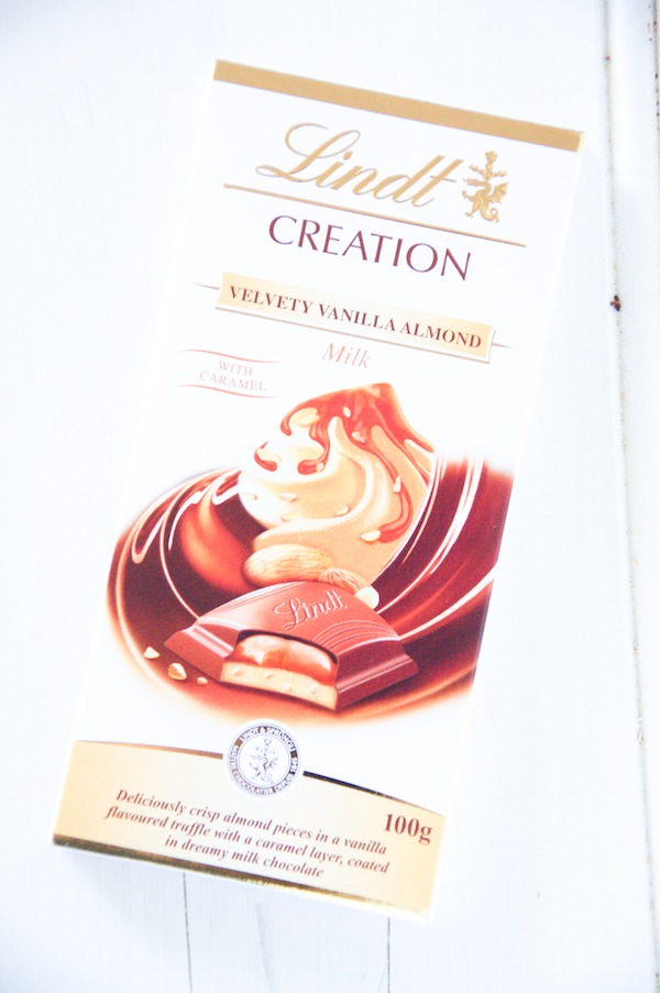 Julia's Chocolates; Lindt Velvety Vanilla Almond Chocolate Mousse Pie