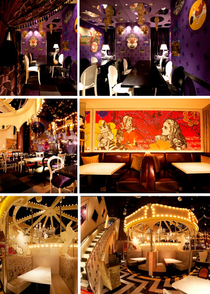 Alice in wonderland restaurants around the world