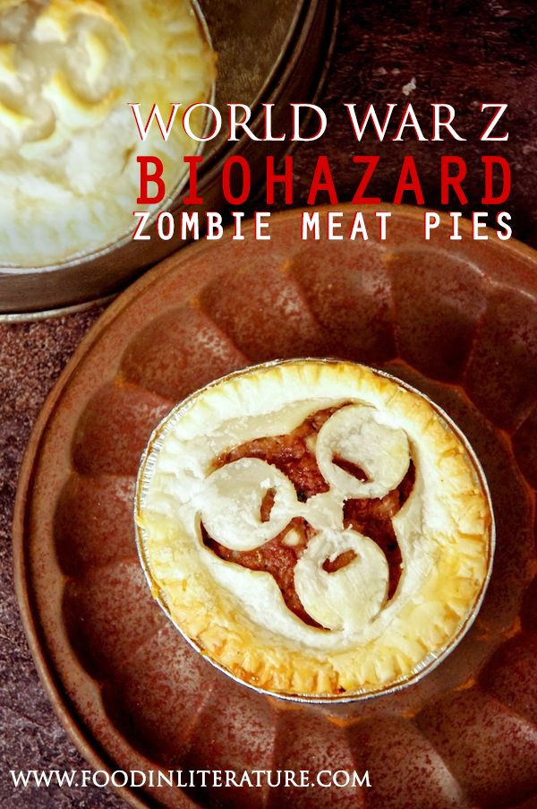 World War Z Biohazard Zombie Meat Pies are the ultimate Halloween food for your zombie party this year. Using our template, easily upgrade meat pies to have your themed dish out in no time!