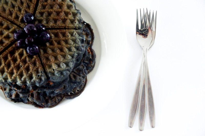 Percy Jackson; Roasted Almond Blueberry Waffles