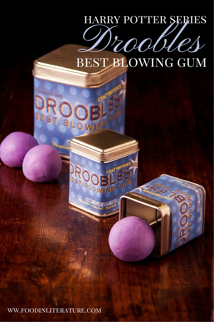 Drooble's Best Blowing Gum, sold at Honeydukes in the Harry Potter series, tastes of crazyberry. So we made crazyberry! Easy to make as party favors for a Harry Potter party.