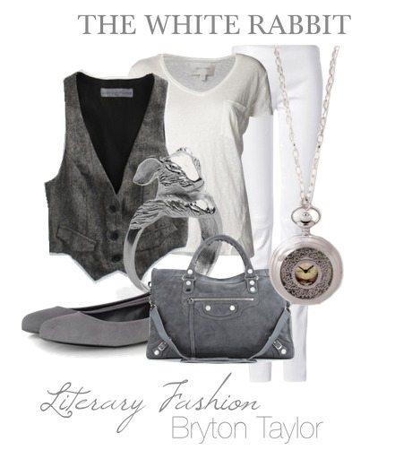 literary fashion bryton taylor the white rabbit alice in wonderland