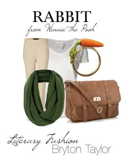 Literary Fashion Rabbit from Winnie the Pooh via BrytonTaylor.com