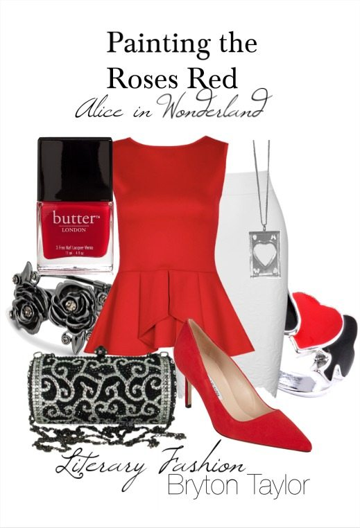 #LiteraryFashion Alice in Wonderland's Painting the roses red via BrytonTaylor.com
