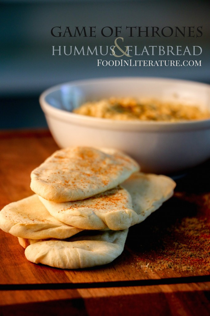 Whip up some homemade hummus and flatbread to go with your Game of Thrones movie night.
