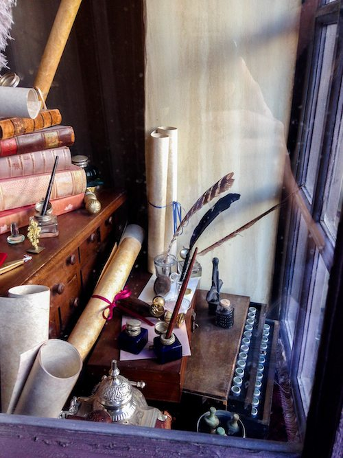 Scrivenshaft's Quill Shop Window at The Wizarding World of Harry Potter via BrytonTaylor.com