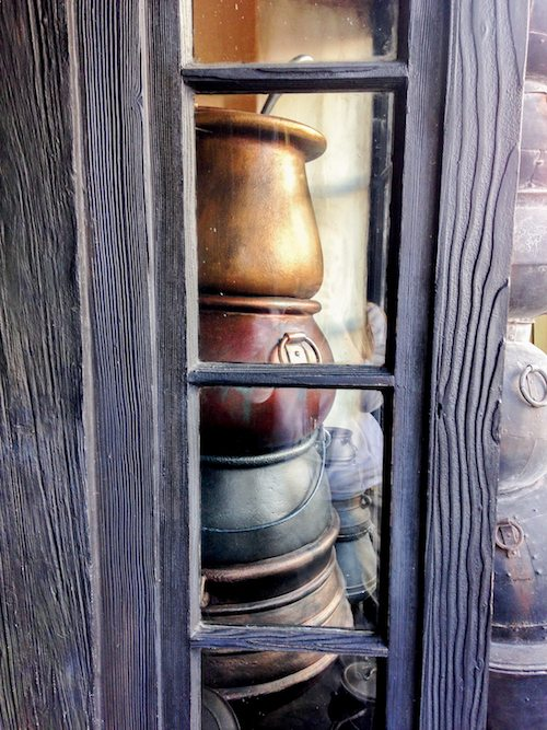 Potage's Cauldron Shop Window at The Wizarding World of Harry Potter via BrytonTaylor.com