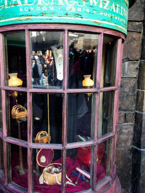 Gladrags Wizardwear Window Shopping at The Wizarding World of Harry Potter via BrytonTaylor.com