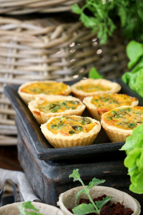 Carrot and Peas Quiche | Peter Rabbit via BrytonTaylor.com