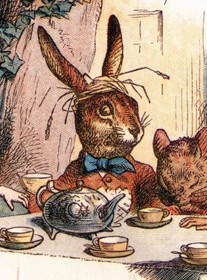 Alice in Wonderland's March hare \ literary Fashion via BrytonTaylor.com