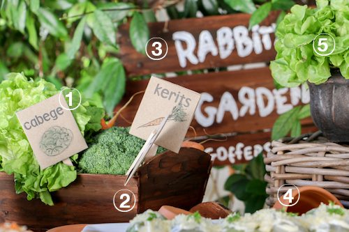 How To Make Rabbits Garden Easter Table from Winnie the Pooh via BrytonTaylor.com