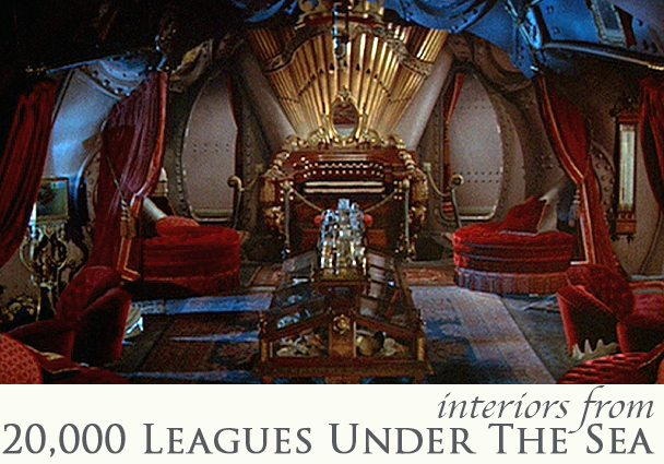 Interiors in 20,000 Leagues Under The Sea
