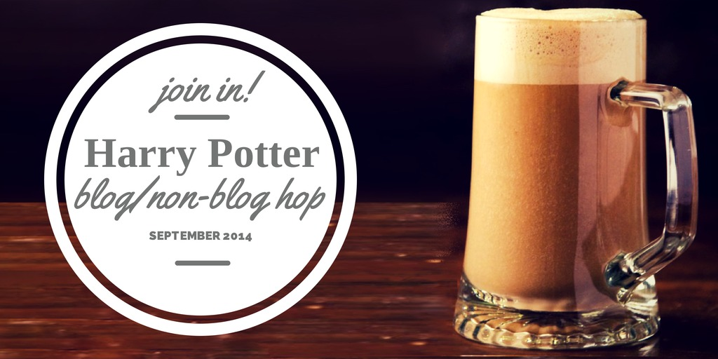 image of butterbeer links to Harry Potter Blog Non Blog Hop Sept 2014
