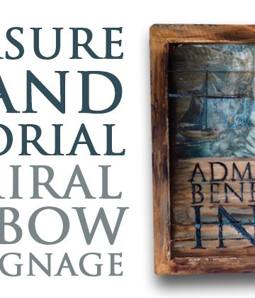How to: Treasure Island Admiral Benbow Inn signage