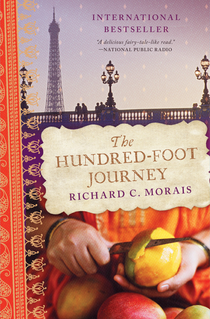 The Hundred Foot Journey book cover, links to list of food in book