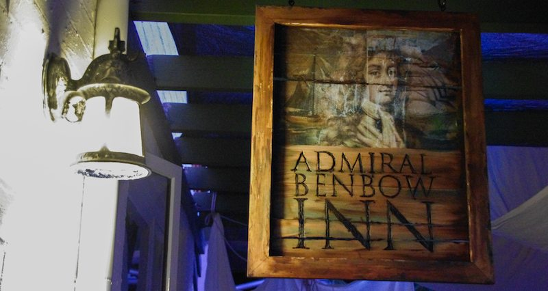 Treasure Island Party | Admiral Benbow Inn signage how to tutorial