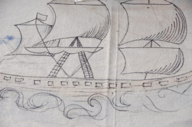 treasure island party tablecloth detail-1