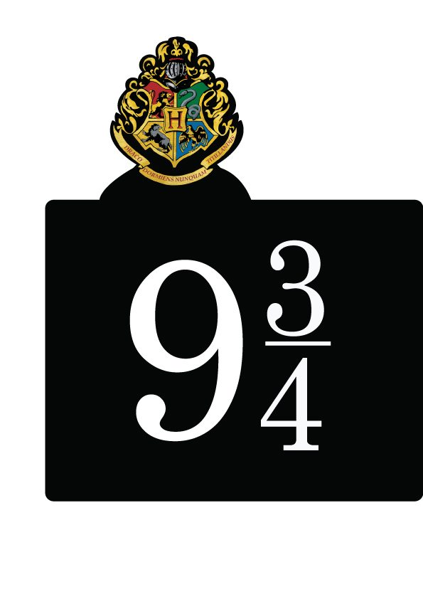 9 3/4 signage Harry Potter Hogwarts Express party decor | free & downloadable