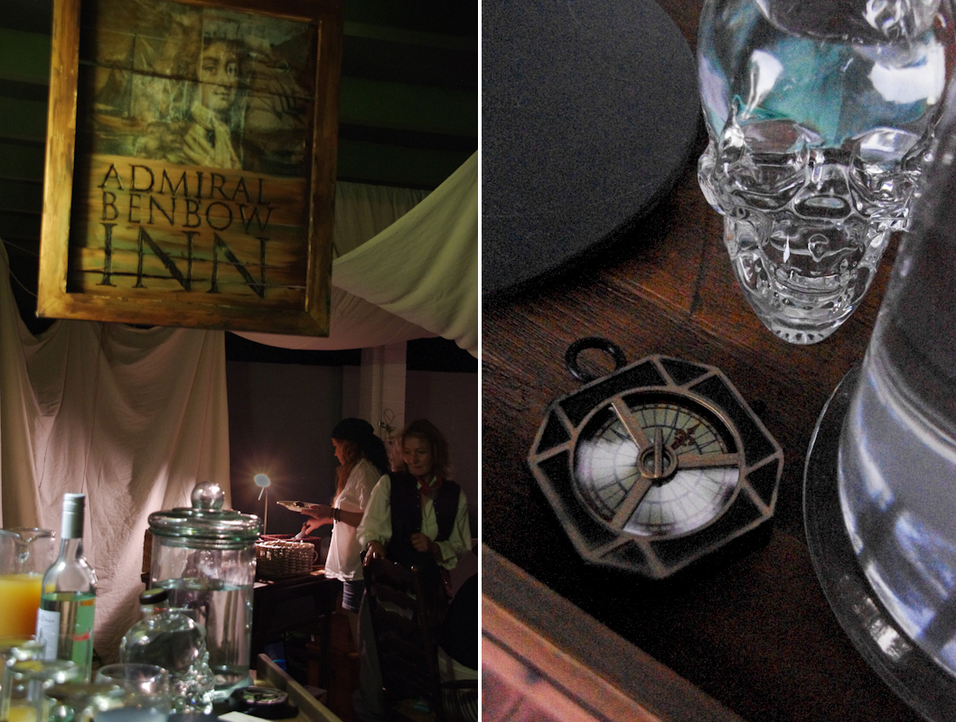 Treasure Island pirate party buffet table
