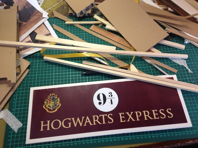 hogwarts express signage creation
