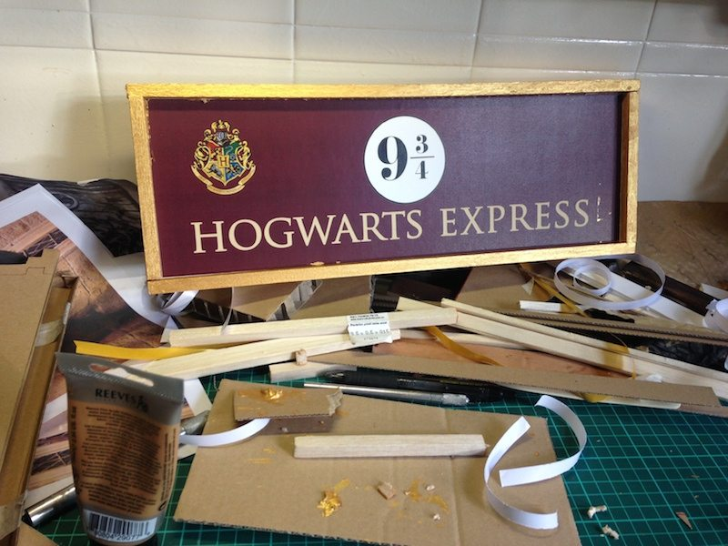 hogwarts signage creation part 2 gold frame