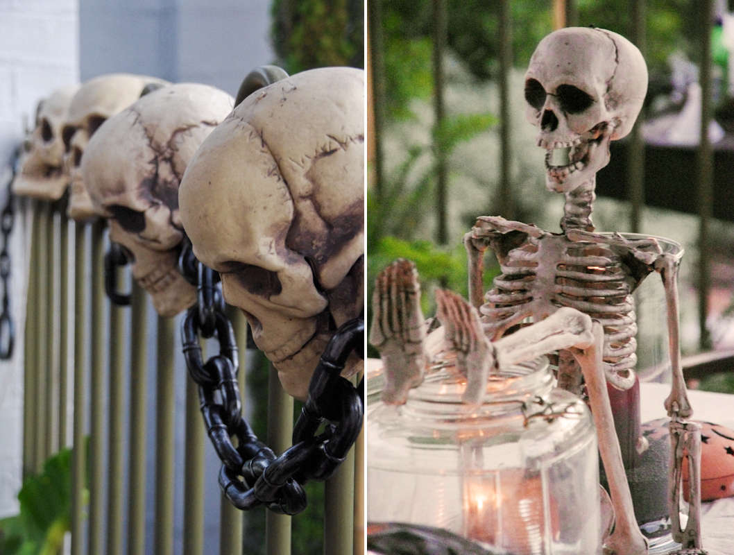 skeletons for Treasure Island pirate party