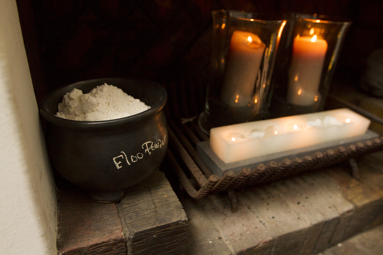 Harry Potter Party - fireplace floo powder