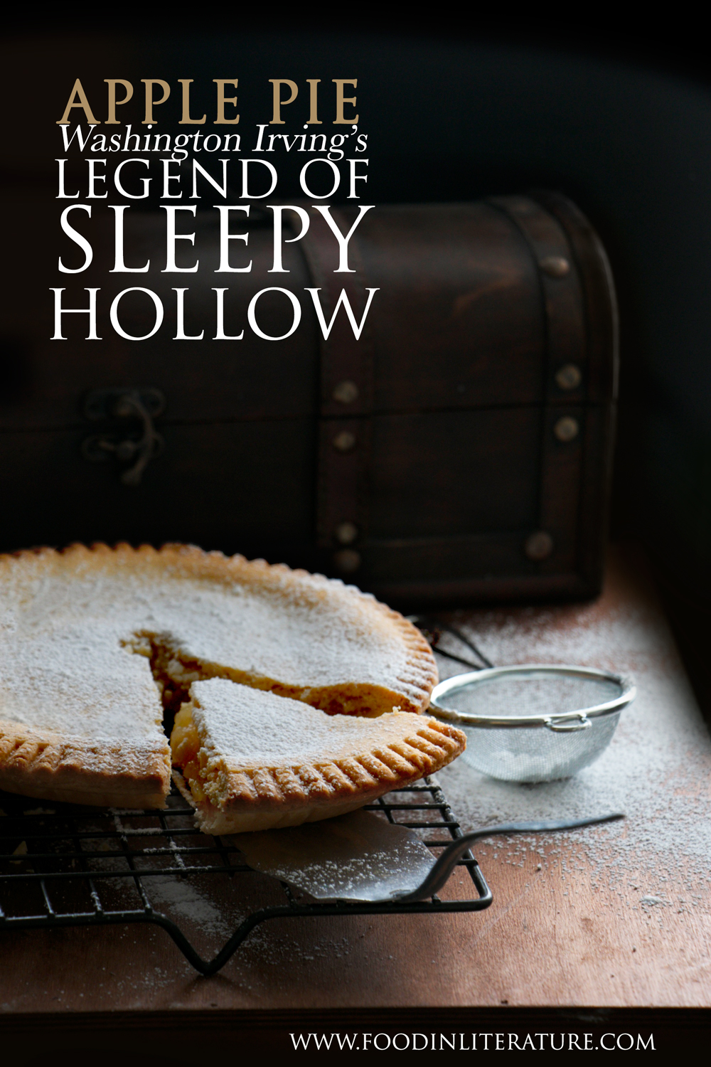Washington Irvings' Legend of Sleepy Hollow is the Halloween story we're all grown up with. Now you can throw a Sleepy Hollow Halloween party with the full menu and authentic recipes from the book. In this post we make the traditional apple pie.
