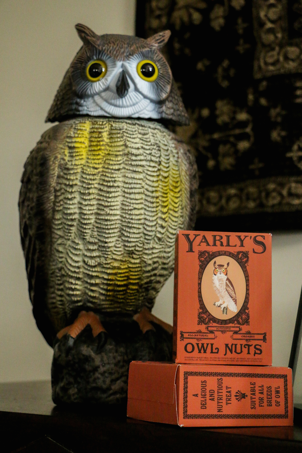harry potter hogwarts dinner party-owl with owl nuts