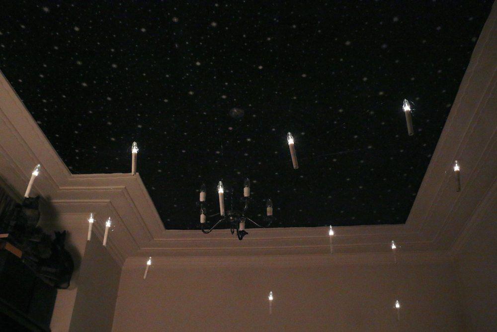 harry potter hogwarts dinner party-great hall night sky