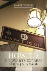 hogwarts 9 3:4 signage how to | harry potter series