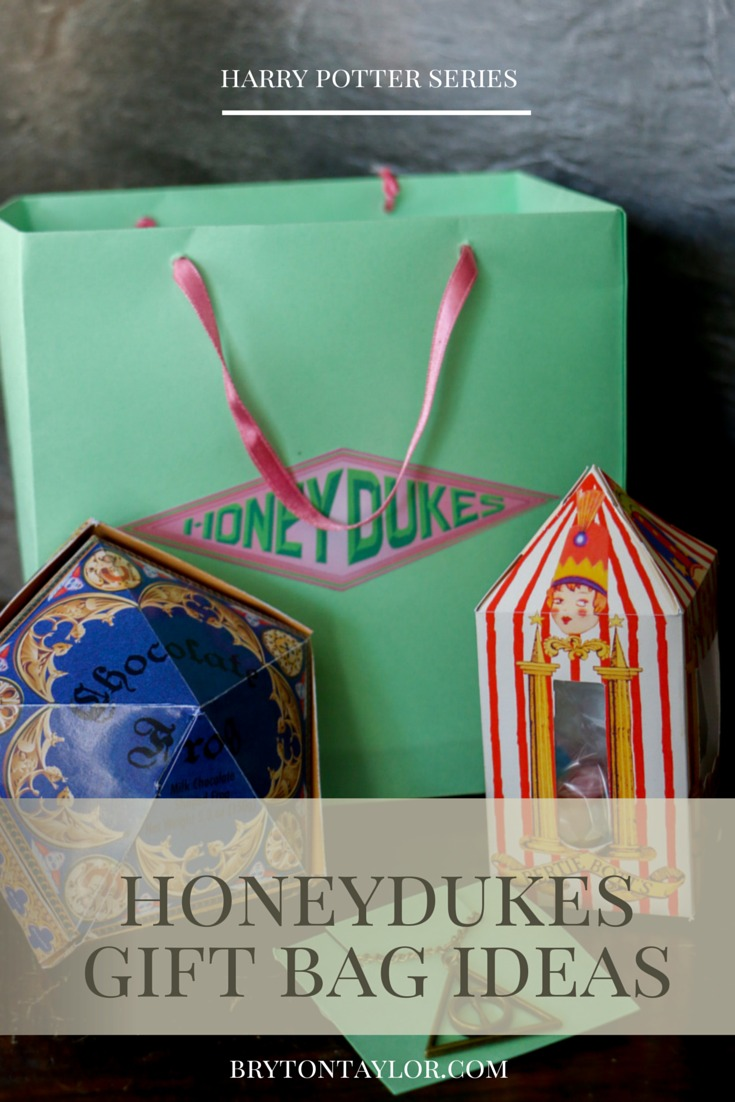 honeydukes gift bags | harry potter party via BrytonTaylor.com