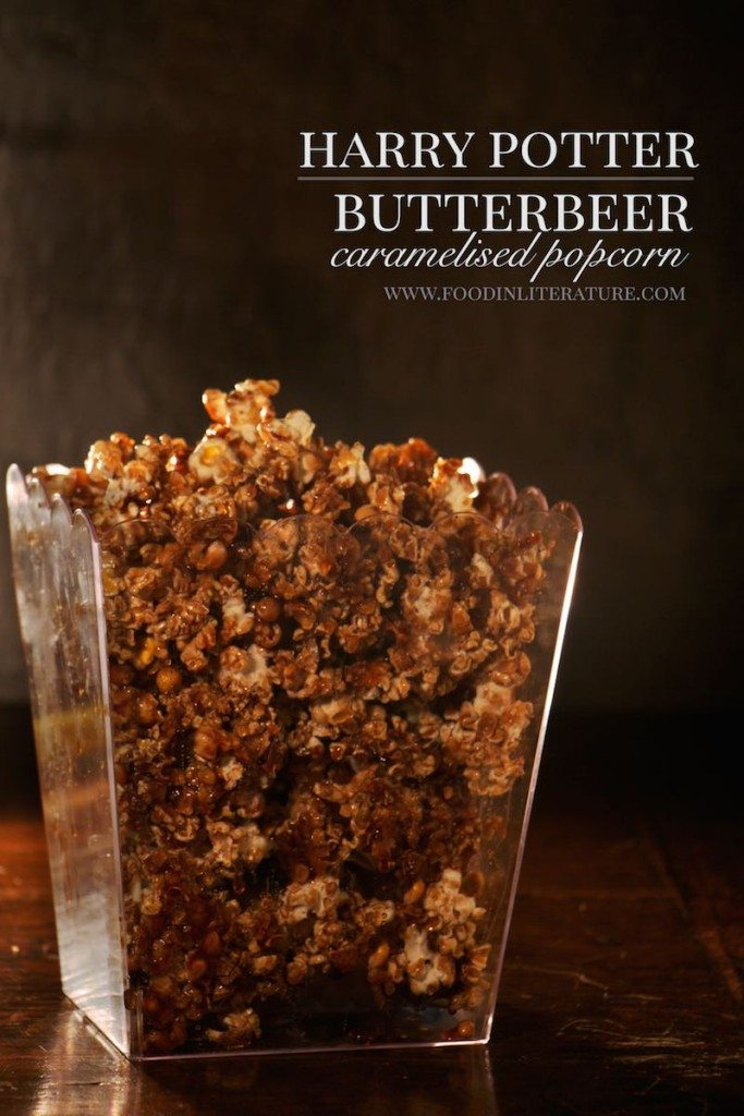 Harry Potter Butterbeer Caramelised Popcorn recipe www.FoodinLiterature.com