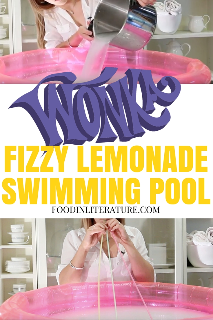 Wonka Fizzy Lemonade Swimming Pool for the ultimate Charlie and the Chocolate Factory summer party!