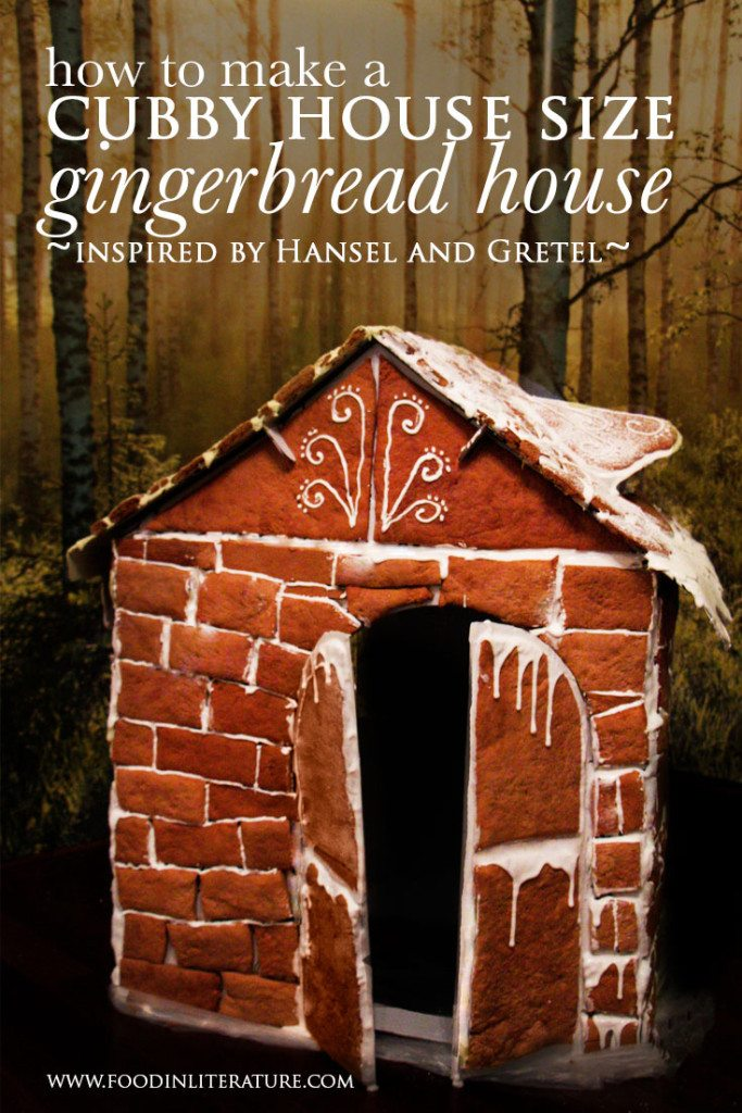 Cubby house size Hansel and Gretel Gingerbread House | www.FoodinLiteratre.com