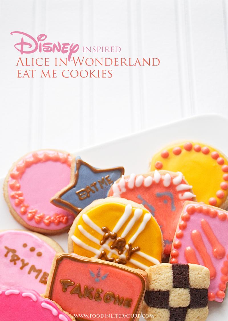 Disney Inspired Alice in Wonderland Eat Me Cookies Food in Literature