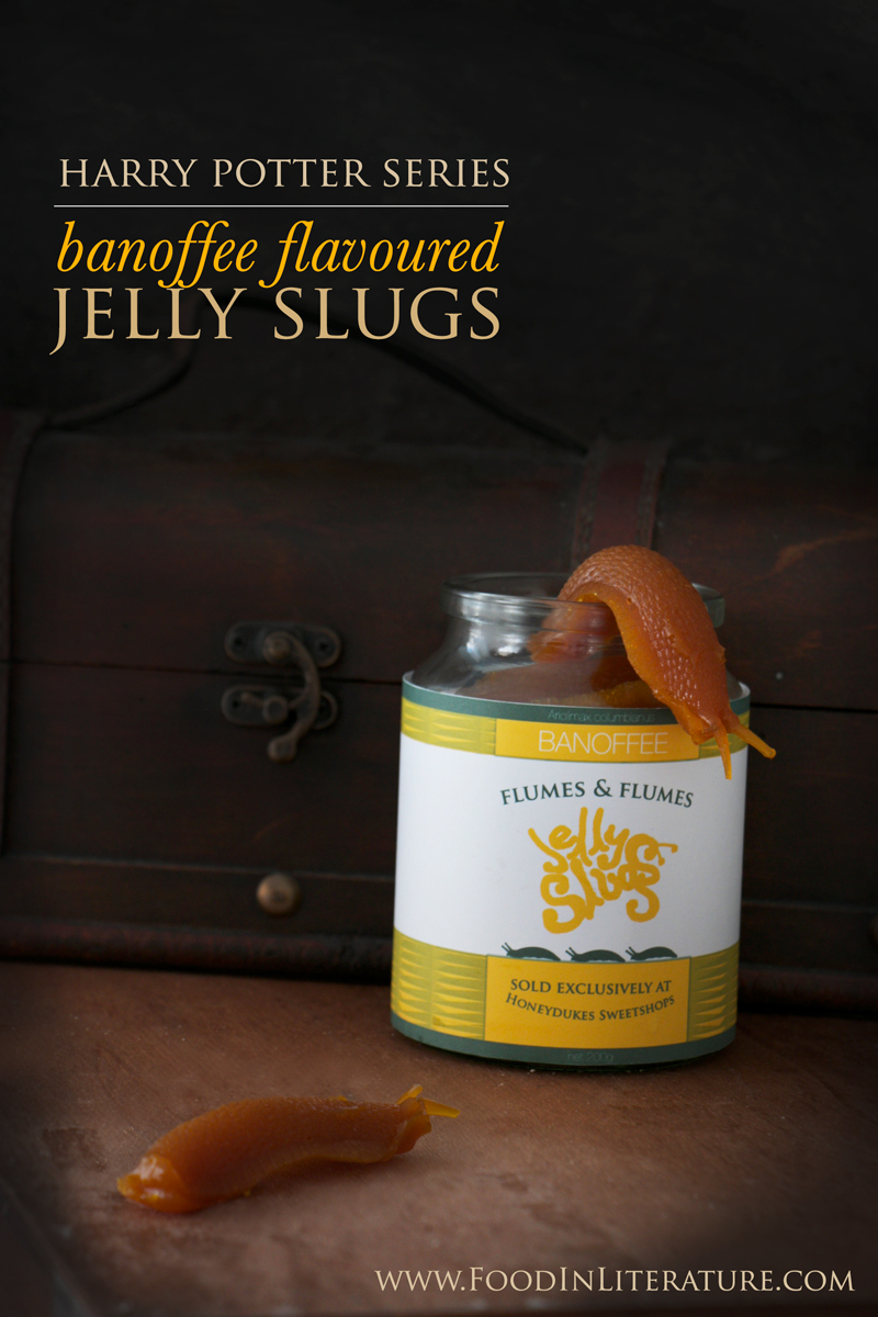 Harry Potter banoffee flavoured jelly slugs from Honeydukes | www.FoodinLiterature.com