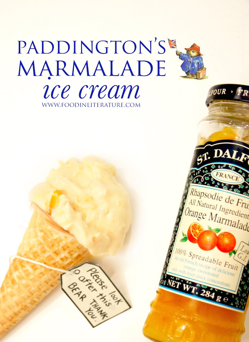 Paddington's marmalade ice cream | Food in Literature