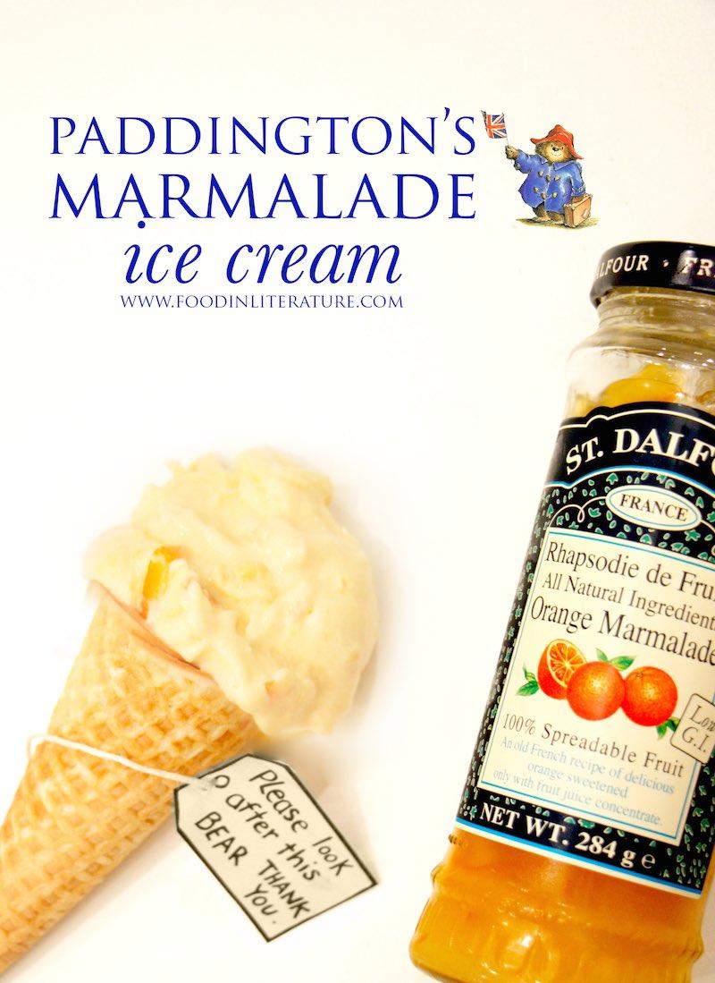 Paddington's marmalade ice cream | Food in Literature