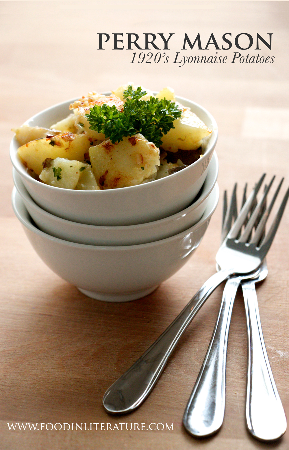 Dig into a bowl of Lyonnaise Potatoes, a recipe served to Perry Mason in one of his novels. A simple 4 ingredient side dish straight from the 1920's.