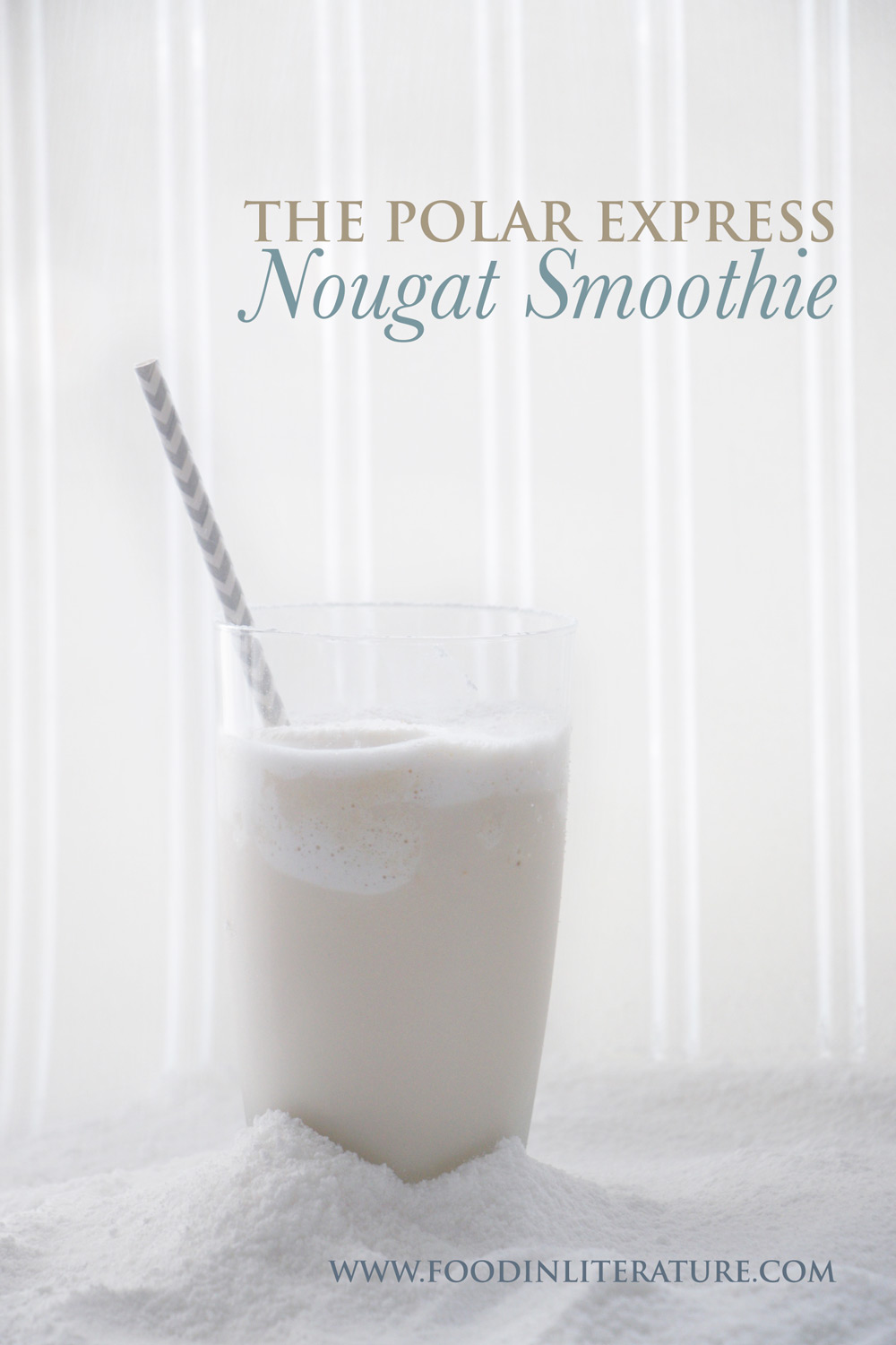 Make this easy nougat smoothie to celebrate Christmas Polar Express style, even if you live in a hot climate!
