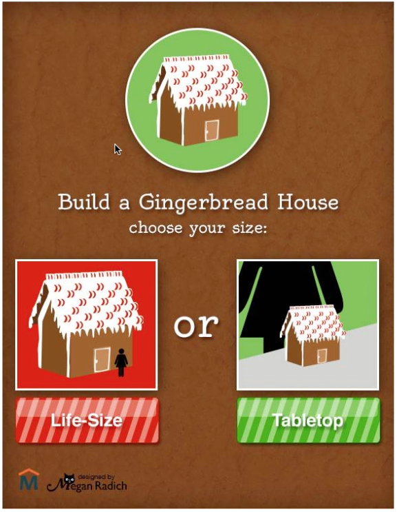 online gingerbread house calculator
