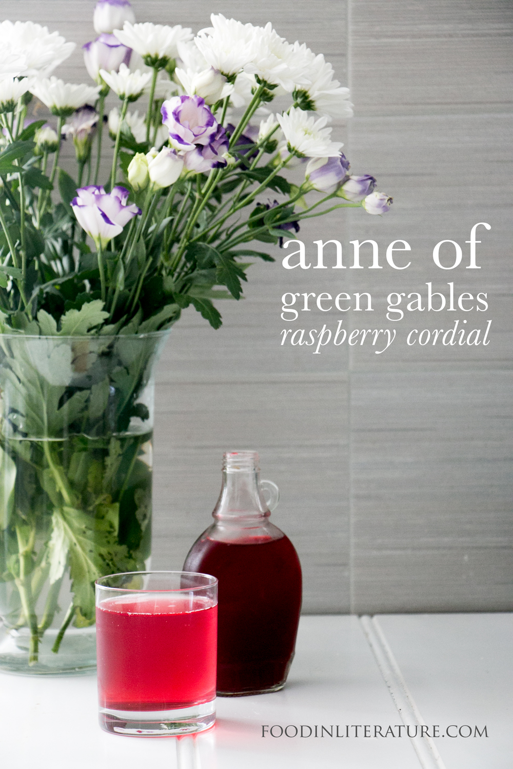 Marilla's raspberry cordial | Anne of Green Gables