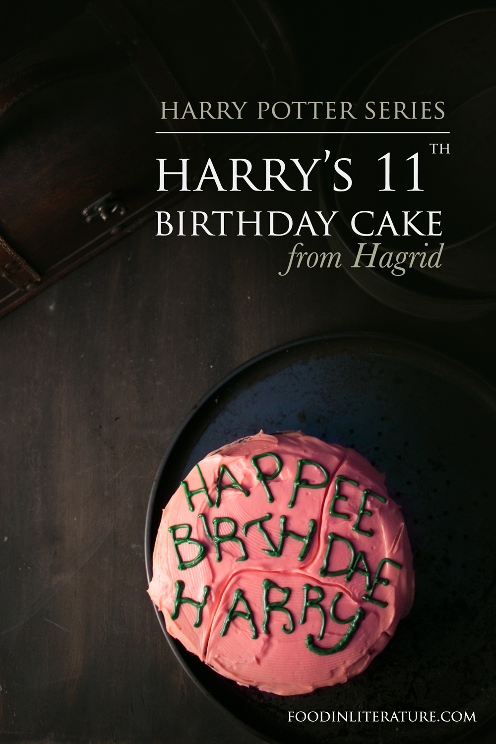 Astonishing Harrys 11Th Birthday Cake From Hagrid In Literature Personalised Birthday Cards Paralily Jamesorg